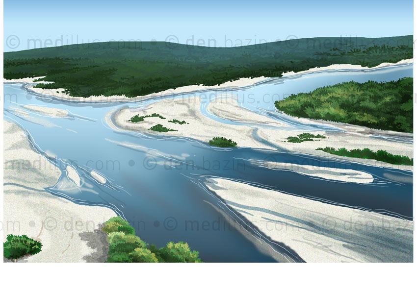 Plaine alluviale et confluences