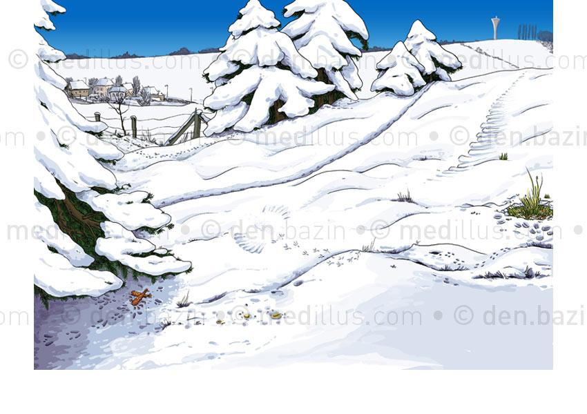 Reconnaître les traces dans la neige