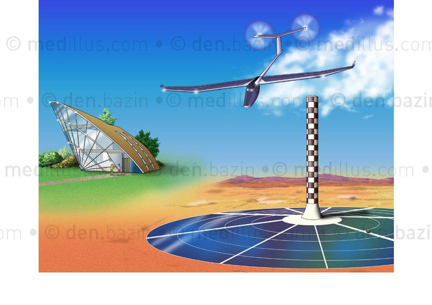 Projets futuristes à énergie solaire