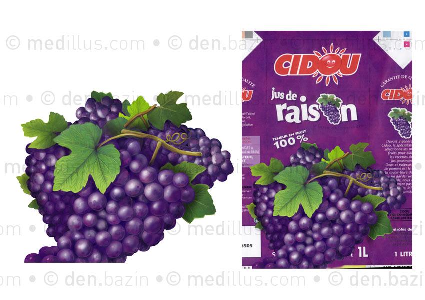 Raisins pur jus 1 L