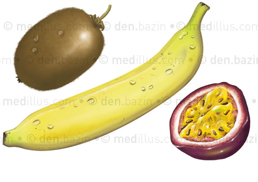 Kiwi, banane, passion